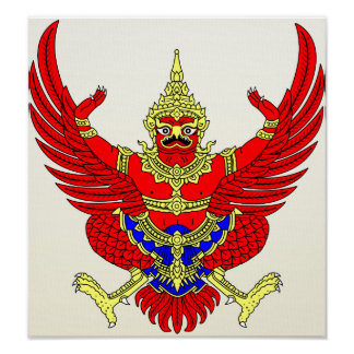 Thailand Coat of Arms detail Print