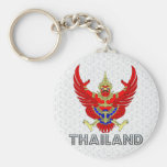Thailand Coat of Arms Keychain