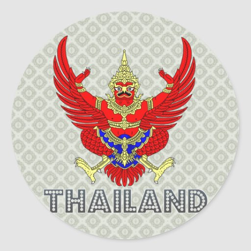 Thailand Coat of Arms Stickers