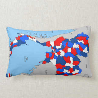 thailand country political map flag pillows