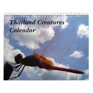 Thailand Creatures Calendar
