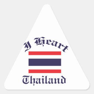 Thailand design triangle sticker
