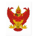 Thailand Emblem Post Card