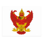 Thailand Emblem Postcards