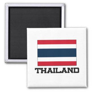 Thailand Flag 2 Inch Square Magnet