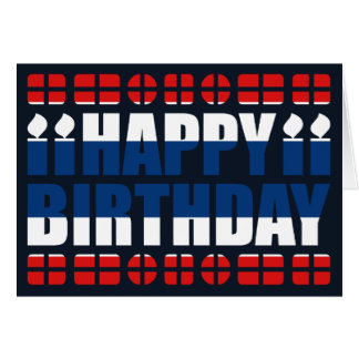 Thailand Flag Birthday Card