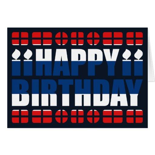 Thailand Flag Birthday Card