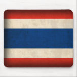 Thailand Flag Distressed Mousepad