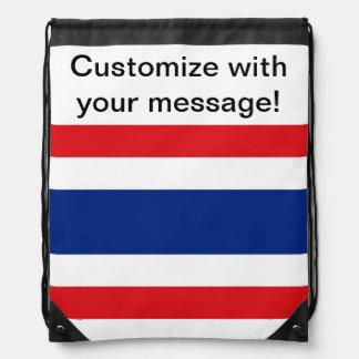 Thailand Flag Drawstring Bag