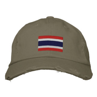 Thailand flag embroidered chino twill cap embroidered baseball caps