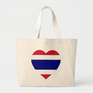 Thailand Flag Heart Canvas Bags