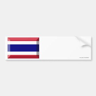 Thailand Flag Jewel Car Bumper Sticker