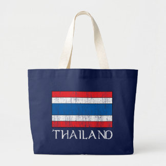 Thailand Flag Large Tote Bag