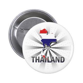 Thailand Flag Map 2.0 Pin