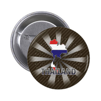 Thailand Flag Map 2.0 Pinback Buttons