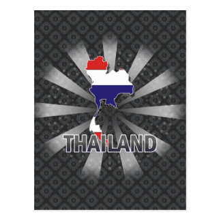Thailand Flag Map 2 0 Post Cards