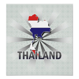 Thailand Flag Map 2.0 Poster
