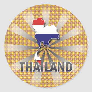 Thailand Flag Map 2.0 Stickers