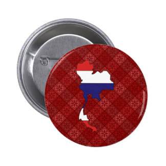 Thailand Flag Map full size Pinback Buttons