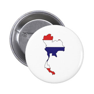 Thailand Flag Map full size Pin