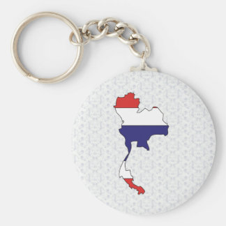 Thailand Flag Map full size Keychain