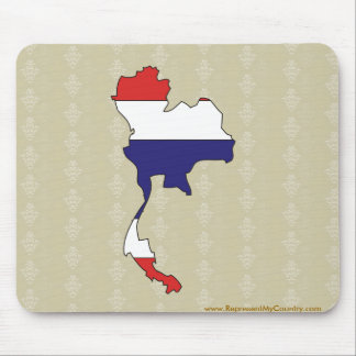 Thailand Flag Map full size Mouse Pad