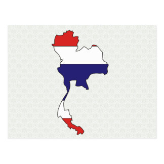 Thailand Flag Map full size Postcard