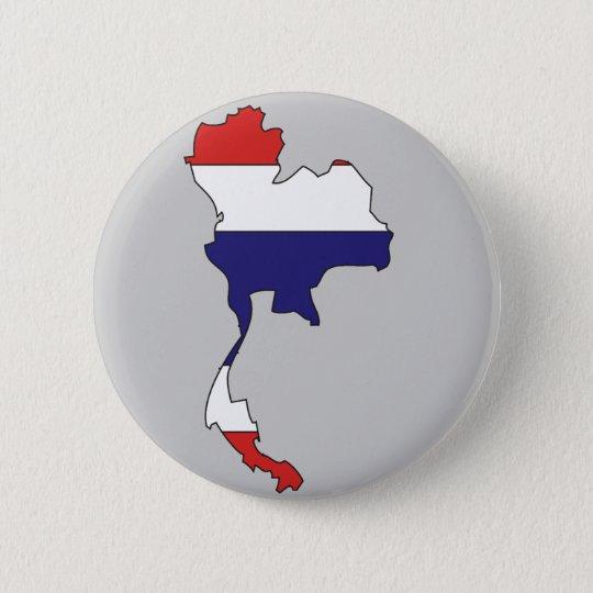 Thailand flag map pinback button