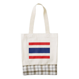 Thailand Flag Oil Painting Zazzle HEART Tote Bag