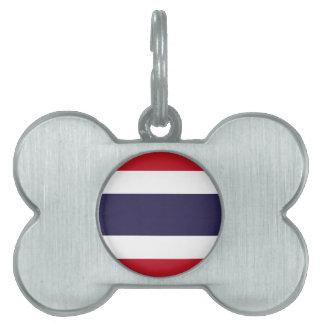 Thailand flag pet name tag