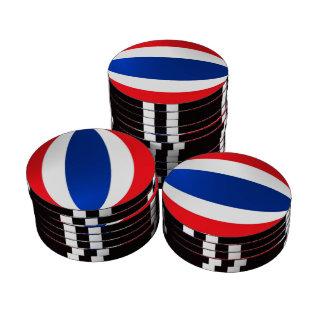 Thailand flag poker chips set