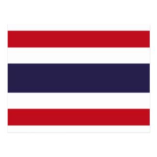 Thailand flag postcard