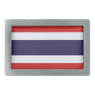 Thailand flag rectangular belt buckle