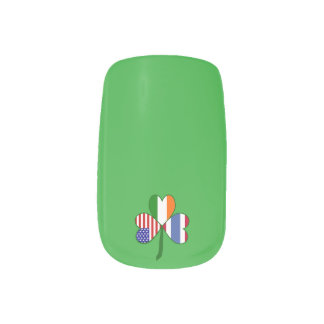 Thailand Flag Shamrock Minx® Nail Wraps