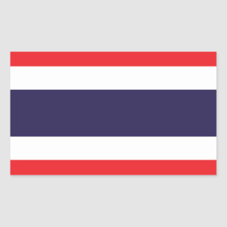 Thailand Flag Stickers* Rectangular Sticker