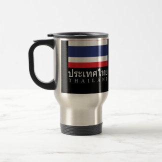Thailand Flag With Thailand Word In Thai Language Travel Mug