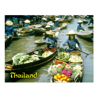 Thailand floating market postcard