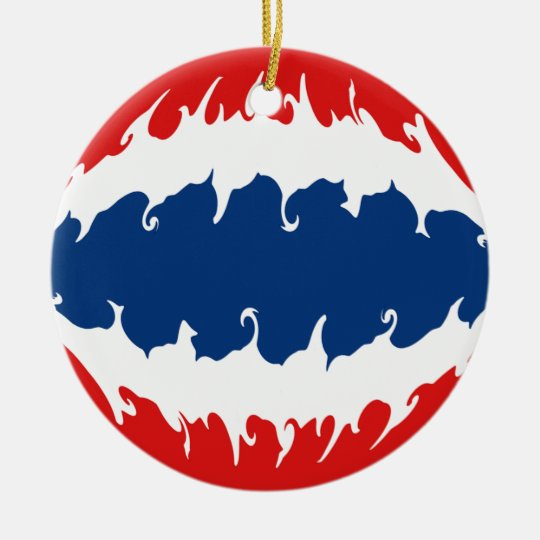 Thailand Gnarly Flag Ceramic Ornament