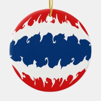 Thailand Gnarly Flag Christmas Ornaments
