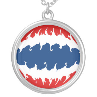 Thailand Gnarly Flag Silver Plated Necklace