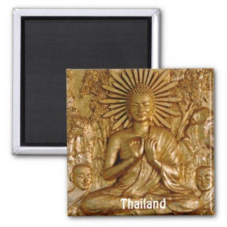 Thailand, Gold Sitting Buddha (Fridge Magnet)