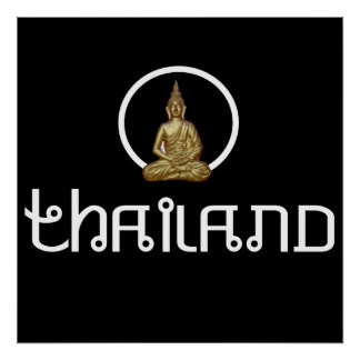 Thailand Gold Statue Poster