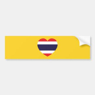 Thailand Heart Flag Bumper Sticker