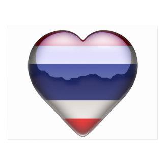 Thailand Heart Postcard