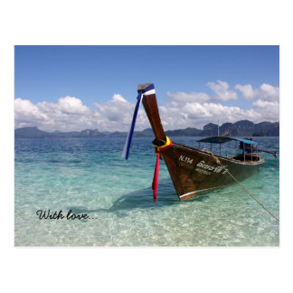 Thailand Island With love... Postcard