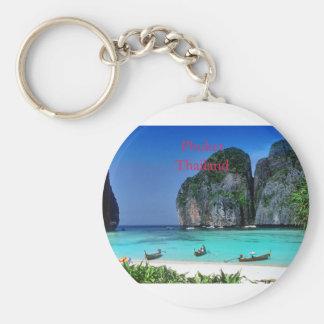 Thailand Basic Round Button Keychain