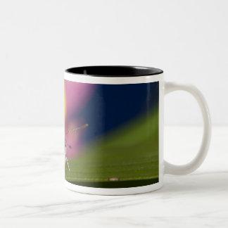 Thailand, Khon Kaen, The pale grass blue Two-Tone Coffee Mug