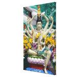 Thailand, Ko Samui aka Koh Samui). Wat Plai 2 Stretched Canvas Print