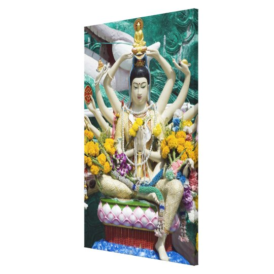 Thailand, Ko Samui aka Koh Samui). Wat Plai 2 Canvas Print