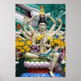 Thailand, Ko Samui aka Koh Samui). Wat Plai 2 Poster